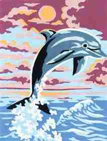 Dolphin -  Tapestry Canvas