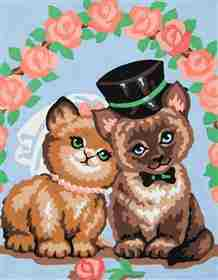 Kitty Love -  Tapestry Canvas