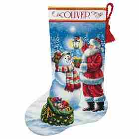 Holiday Glow Stocking -  Christmas Cross Stitch Kit