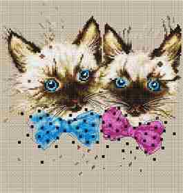 Cats -  Cross Stitch Kit