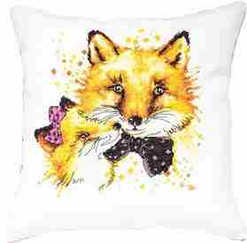 Foxes Pillow -  Cross Stitch Kit