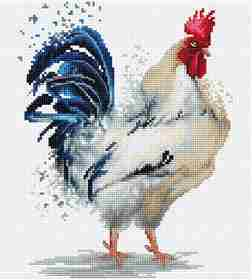 The Rooster -  Cross Stitch Kit