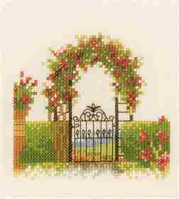 Fence and Flowers -  Cross Stitch Kit