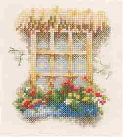 Window with Flowers -  Cross Stitch Kit