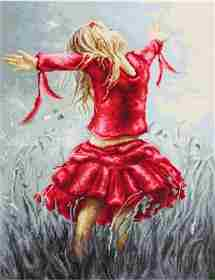Dancing in the Field -  Cross Stitch Kit