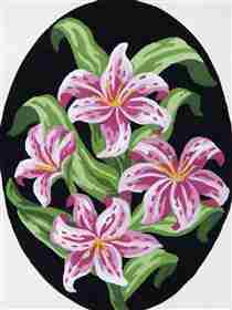 Pink Lillies -  Tapestry Canvas
