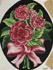 Peonies Bow -  Tapestry Canvas