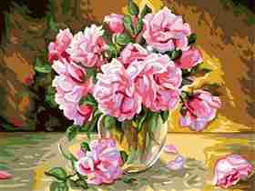 Pink Roses -  Tapestry Canvas