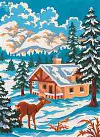 Winter Wonderland -  Christmas Tapestry Canvas