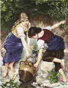 At the Fountain -  Cross Stitch Kit