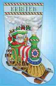 Santa Train Stocking -  Christmas Cross Stitch Kit