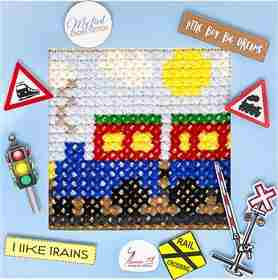 The Train -  Cross Stitch Kit