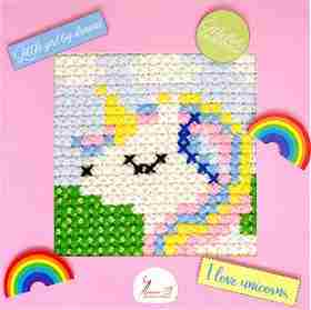 Unicorn -  Cross Stitch Kit