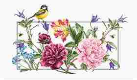 Spring Flowers -  Cross Stitch Kit