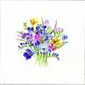 Heritage Freesia Posy - Evenweave Floral Cross Stitch Kit