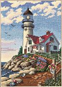 Dimensions Beacon at Rocky Point Cross Stitch Kit
