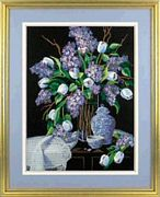 Dimensions Lilacs and Lace Floral Embroidery Kit