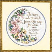 Dimensions To Have and To Hold Wedding Sampler Cross Stitch Kit