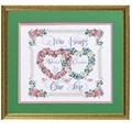 Janlynn Two Hearts, One Love Wedding Sampler Cross Stitch Kit