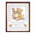 Janlynn Bear Birth Sampler Cross Stitch Kit