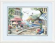 Dimensions Cafe By The Sea Cross Stitch Kit