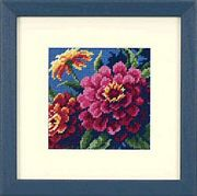 Dimensions Zinnias Floral Tapestry Canvas