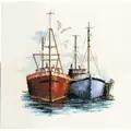 Derwentwater Designs Fish Quay Cross Stitch Kit