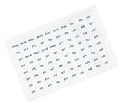 Set of 640 DMC Floss Number Stickers