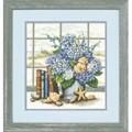 Dimensions Hydrangeas and Shells Floral Cross Stitch Kit