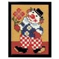 Pako Clown with Flowers Cross Stitch Kit