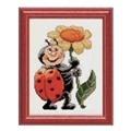 Pako Ladybird and Flower Cross Stitch Kit