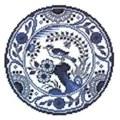 Pako Blue and White Plate Cross Stitch Kit