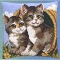 Pako Two Cats in a Basket Cross Stitch Kit
