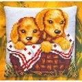 Pako Puppies in a Basket Cross Stitch Kit
