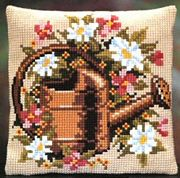 Pako Flowers and Watering Can Floral Cross Stitch Kit