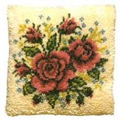 Pako Roses and Forget-Me-Nots Latch Hook Kit