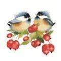 Heritage Berry Chick-Chat - Aida Cross Stitch Kit