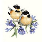 Heritage Bluebell Chick-Chat - Evenweave Cross Stitch Kit