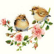 Heritage Rose Chick-Chat - Evenweave Cross Stitch Kit