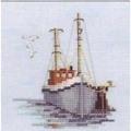 Derwentwater Designs Fishing Boat Cross Stitch Kit
