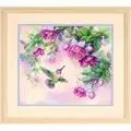 Dimensions Hummingbird and Fuchsias Cross Stitch Kit