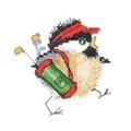 Heritage Golfing Chick Cross Stitch Kit