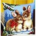Vervaco Rabbits Winter Scene Cross Stitch Kit