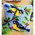 Vervaco Winter Birds Cushion Latch Hook Kit