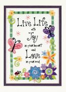 Dimensions Live Life Embroidery Kit
