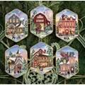 Dimensions Christmas Village Ornaments Cross Stitch Kit
