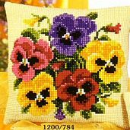 Vervaco Pansy Posy Floral Cross Stitch Kit