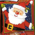 Vervaco Santa Cushion Christmas Cross Stitch Kit