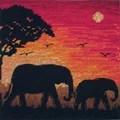 Maia Elephant Silhouette Cross Stitch Kit