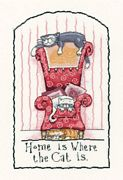 Heritage Home is Where the Cat is - Aida Cross Stitch Kit